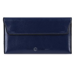 Wholesale Mini Coin Envelopes - Old Classical Style Hasp Closure Envelope Design Women Wallet with Mini Bag Blue
