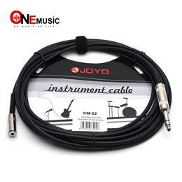 JOYO Enstrüman Kablosu CM-02 Korumalı Stereo Kablo 3.5mm Kadın 6.3mm erkek fiş 15ft Siyah nereden arayüz adaptörleri tedarikçiler