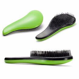 2018 mango mágico Portable Magic Handle Tangle Detangling Knot Free Hair Brush Peine Ducha Salon Styling Tamer Tool popular 1 Pieza presupuesto mango mágico