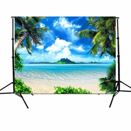 Wholesale sea photography backdrops - 5X7ft Vinyl Photography Background Sunshine Sea Beach Photographic Backdrop For Studio Photo Prop Cloth 1.5*2.1m