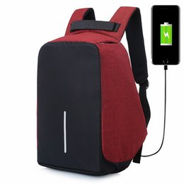 Wholesale Teenage Male Fashion - Men Travel USB Charge Anti Theft Notebook Backpack Security Waterproof School Bags College Teenage Male 15inch Laptop Backpacks