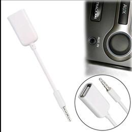 3,5-мм разъем usb-конвертера Скидка 3.5 мм мужской AUX аудио разъем Джек USB 2.0 женский конвертер шнур кабель автомобиля MP3 2018 фондовой