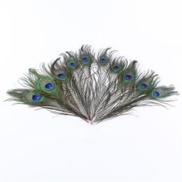 Mani ornamenti online-Piume di pavone naturale fatto a mano artigianato squisito per la casa Desktop Elegante decorazioni di nozze Ornamento Vendita diretta di fabbrica 0 57yx YB