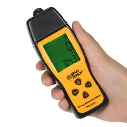 Wholesale carbon monoxide gas detector - Handheld Carbon Monoxide Meter High Precision CO Gas Analyzer Tester Monitor Detector LCD Display Sound + Light Alarm 0-1000ppm