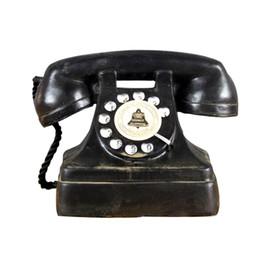 Alte oldtimer online-Home Decor Retro Telefon Figuren Harz Vintage Telefon europäischen Stil Handarbeit Dekoration Nachahmung machen alte Figuren Geschenk