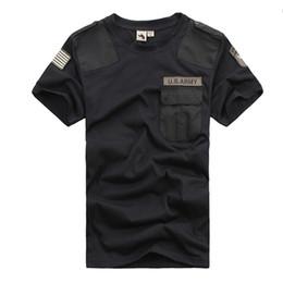 xxl camping hiking t shirts Desconto Hot O-pescoço Manga Curta Verão T Shirt Homens Tático Combate Caminhadas T-shirt Lazer Esporte Ao Ar Livre Camisa Hombre T-shirt
