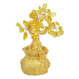 Wholesale Feng Shui Tree - Feng Shui Crystal Money Tree ornaments Lucky tree Bonsai Style Wealth Luck Feng Shui Bring Wealth Home Money Tree ornaments
