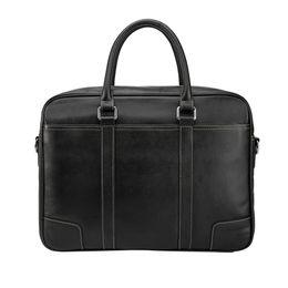 Cuoio marrone in pelle marrone online-Tiding Leather Leather Briefcase Mens 15 pollici Borse per notebook Tote Business Office Case Satchel Retro Messenger Bag Maleta Brown