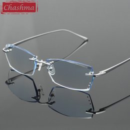 Chashma Diamante Aparado Óculos Homens Sem Aro Óculos de Armação de Tinta  Lentes de Qualidade Óculos Ópticos de Titânio Puro desconto aparador de  titânio 7e4a426b25