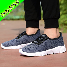 Wholesale Rubber Sole Shoes Materials - Top-selling men's casual shoes only $19.9 breathable soft cotton material fabric anti-slip wear-resistant sole fashion casual shoes