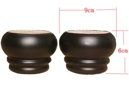 Wholesale Solid Round Table - 4PCS LOT H:6X9CM Solid Wood Sofa Round Black Table Feets Foot Legs Furniture Accessories