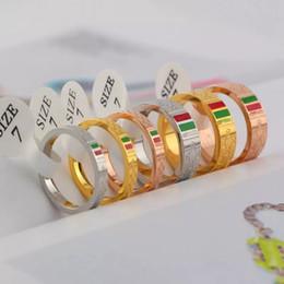 placas de amor Desconto Jóias de moda de aço inoxidável 316L G anéis de amor Design jóias amante anéis de ouro 18K-cor e rosa jóias banhado a ouro verde