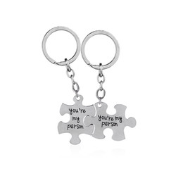 7154537c9ab8 Greys Anatomy key rings 2 You Are My Person keychains set Lovers Best  Friend key chain car holder mothers day Gift for mom