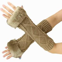 Новый 2017 элегантный длинные женские перчатки мода трикотажные руку рукав пальцев женские рукавицы#LREW от Поставщики компьютерные перчатки без пальцев