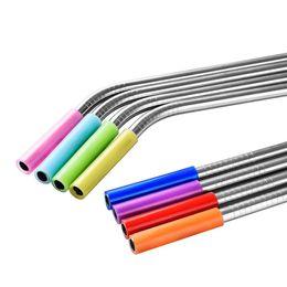Coprivalvola monouso in silicone per cannuccia riutilizzabile in metallo uso universale tappo in silicone paglia estraibile da 6mm 8mm in silicone cheap disposable straws da paglie monouso fornitori
