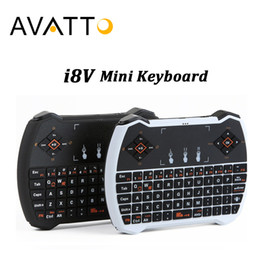 Wholesale russian keyboard for tablet - [AVATTO] Russian English i8V Mini Keyboard with 2.4G WirelessTouchpad Handheld for Smart tv,Android Box,Tablet,Laptop,iPad