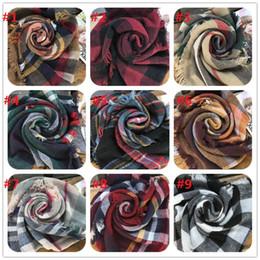 brand pashmina Скидка Плед шарф для женщин зима теплая одеяло шарф акриловые бежевый бахрома Шаль обернуть бренд пашмины пончо большой женский шарф CM116