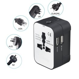 au dual port wall charger Coupons - Universal Travel Adapter Worldwide All in One Power Converters Wall Charger AC Power Plug Adapter Dual USB Charging Ports US EU UK AU