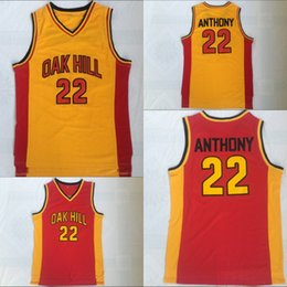 90c66f71d47 ... carmelo anthony 22 oak hill academy high school red orange basketball  jerseys double stiched in stoc