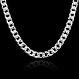 2018 10 MM plata plateó la cadena del collar moda plana cadenas de figaro para hombres cadena torcida encantos de la joyería joyería Square hebilla de alta calidad N011 desde fabricantes