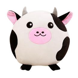 Juguetes vaca online-GGS 40 cm vacas lindas mapache cerdo zorro vacas felpa juguete relleno suave almohada de dibujos animados de animales precioso regalo de navidad para niños