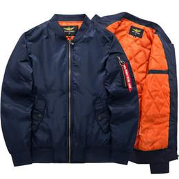 665eb2054 2018 Primavera Otoño estilo Moda chaquetas bomber para hombre grueso una  chaqueta con cremallera impermeable chaqueta de béisbol abrigo
