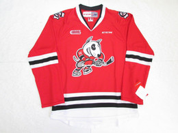 Wholesale Dog 4xl - Cheap Custom NIAGARA ICE DOGS OHL RED CCM PREMIER HOCKEY JERSEY Mens Stitched Personalized Jerseys
