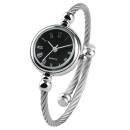 Women Watch Unique Little Cute Smooth Dial Quartz Fashion Silver Slim Bracelets Quartz Wristwatch Dress Jewelry Gifts for Teen Girls Ulzzang Coupons