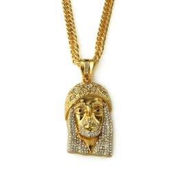 Wholesale plate suppliers - 2018 I Hip Hop Bling Fashion Necklace Jesus Piece Pendant Necklace Wholesale Jewelry Supplier For Men Women Gift