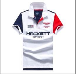2019 polo deportivo diseño de la camisa Venta al por mayor Polo para hombre camiseta ocasional marca americana Polos Diseño camisetas de algodón para los muchachos Deporte T talla de la camiseta M-XXL polo deportivo diseño de la camisa baratos