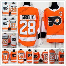 Wholesale Hockey Flyer - Men Youth Women #53 Shayne Gostisbehere 28 Claude Giroux 19 Nolan Patrick 17 Wayne Simmonds 93 Voracek Orange Kid Philadelphia Flyers Jersey