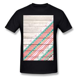 Nuovi uomini di arrivo Tessuto di cotone Ande Tribal Aztec Coral Teal Chevron Legno Pa T-Shirt Uomo Girocollo Grigio T-shirt manica corta Big Size Class cheap wood pa da legno pa fornitori