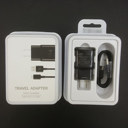 Wholesale Galaxy Z - Original OEM Black White Fast Travel Adapter Wall Charger + Type-C Cable With Retail Packaging For Samsung Galaxy S8 S8 Plus Moto Z C9 Pro