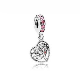 Wholesale 925 Tree - 2018 Valentine's Day Authentic 925 Sterling Silver Tree of Love Dangle Charm, Mixed Enamel & Multi-Colored CZ Fits European Style Bracelets