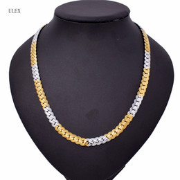 Wholesale Necklaces Customized - 2018 New Style Customized Length 8mm Gold Filled Necklace Hammered Curb Cuban Hip Hop Chain Womens Necklace Mens Chain Jewelry