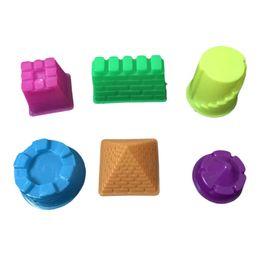 Wholesale Random Mold - Space mold sand Castle Playdough Tools Plasticine Molds Play Tool Set Kit For Kids Gift Magic color random