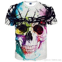 Wholesale Pink Animations - New Fashion Brand T-shirt Hip Hop 3d Print Skulls Harajuku Animation 3d T shirt Summer Cool Tees Tops Brand Clothing