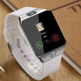 Tarjeta iphone 2g online-Bluetooth Smart Watch Smartwatch DZ09 Android Llamada de teléfono Relogio 2G GSM SIM Cámara de tarjeta TF para iPhone Samsung HUAWEI PK GT08 A1