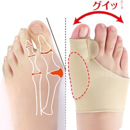 2019 dolor en el dedo gordo Hallux Valgus Ortesis Big Toe Liners Support Juanete de silicona Orthopedics Brace Correction Separator High Heel Foot Bone Pain dolor en el dedo gordo baratos