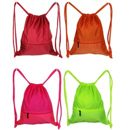 Wholesale Drawstring Backpack Mix - Fashion Womens Mens Drawstring School Bag Outdoor Sport Shoulder Bags Mix Color Storage Backpack Birthday Gift New