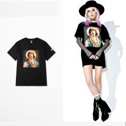 camiseta de Pulp Fiction mixta de Virgin Mary graciosa 2018 Camisetas de algodón transpirable SUMMER June NUEVAS LLEGADAS de tops hombre mujer Hip hop desde fabricantes