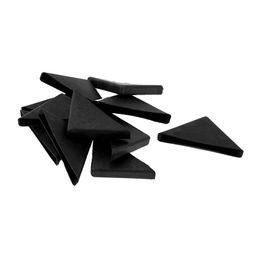 Wholesale Corner Plastic - 12 Pcs 8mm x 75mm Black Plastic Recessed Furniture Corner Protectors