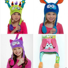 Wholesale Kid Hat Funny - Funny Hats Kindergarten Perform Show Ear Guard Just Squeeze Cartoon Lovely Molding Cap Dance Move Toy Children Kid Creative 22 5ls V