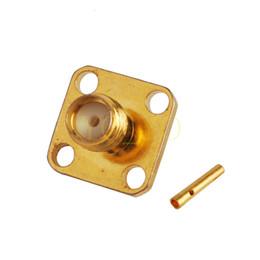 Горячие продажи РФ электрический провод терминальный разъем SMA разъем 4-отверстие фланец панели крепление прямой припой для коаксиального кабеля RG402 от