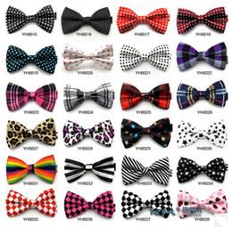 Wholesale British Bowtie Style - British Style Bowties Men's Ties Men's Bow ties Men's Ties Dots Bowtie Grid Bow Tie Stripe Neckwear Groom Wedding Bowties