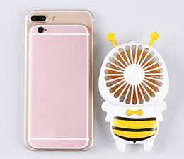 удобный горячий Скидка Горячая Handy USB зарядка вентилятор мини Bee ручка зарядки электрические вентиляторы тонкий портативный световой ночник для дома подарки 3 цвета 60 шт.