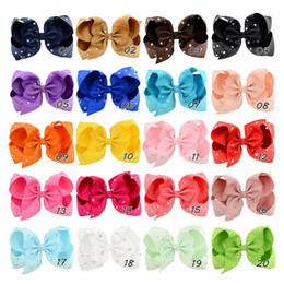 """Wholesale Rhinestone Hair Dance - 5.5"""" Large Solid Full Rhinestone Hair Bow With Clip Girl Dance HairPin Boutique Kids Hair Accessories 759"""