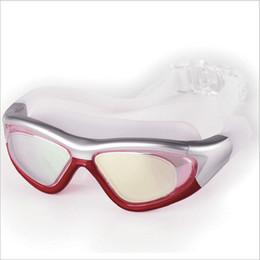 2019 occhiali blu rossi adulti Occhiali da nuoto a montatura larga Occhiali da nuoto normali Occhiali da nuoto impermeabili a prova di nebbia