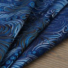 telefono ufficio d'epoca Sconti Tessuto broccato Jacquard metallizzato stile pavone, tessuto jacquard 3D, tessuto tinto in filo per gonna donna abito gonna per metro