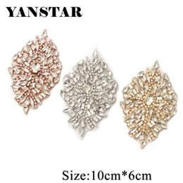 YANSTAR One Pair Rhinestone Applique Iron On Patch Applique DIY Crystals  Patch Rhinestone Sewing Appliques For Shoes YS889 55ff984e9f47